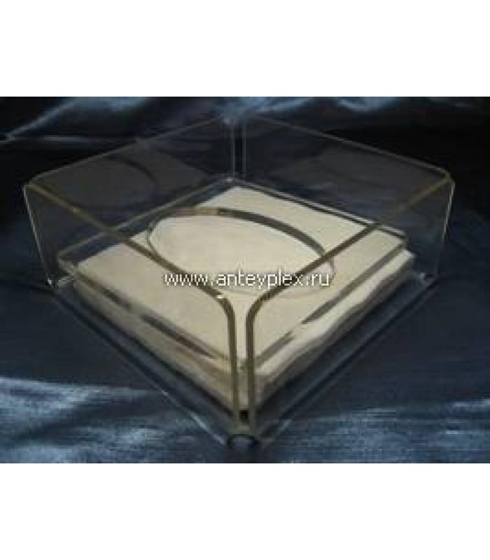 Салфетница квадратная с прижимной крышкой
