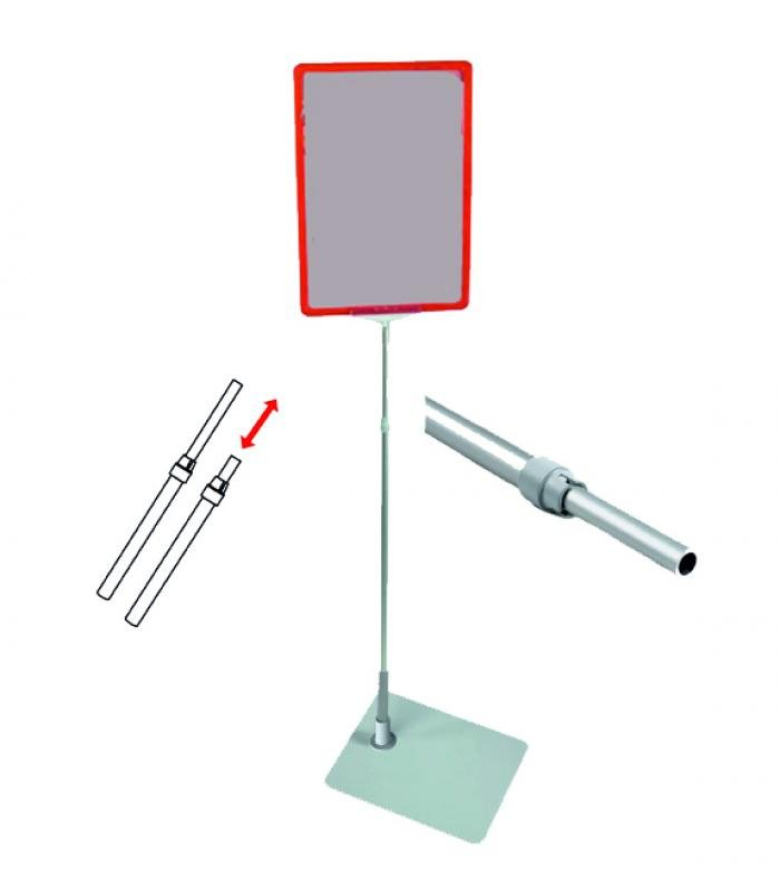 Информационная стойка с мет. основанием, 1400 мм